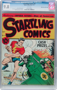 Startling Comics #8 Mile High Pedigree (Better Publications, 1941) CGC NM/MT 9.8 White pages