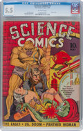 Golden Age (1938-1955):Science Fiction, Science Comics #4 (Fox, 1940) CGC FN- 5.5 Off-white pages....