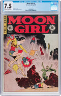 Golden Age (1938-1955):Superhero, Moon Girl #3 (EC, 1948) CGC VF- 7.5 Off-white to white pages....