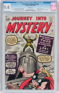Journey Into Mystery #85 (Marvel, 1962) CGC NM 9.4 White pages