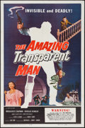 "Movie Posters:Science Fiction, The Amazing Transparent Man (Miller-Consolidated Pictures, 1959).One Sheet (27"" X 41""). Science Fiction.. ..."