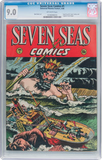 Seven Seas Comics #1 (Universal Phoenix Feature, 1946) CGC VF/NM 9.0 Off-white pages