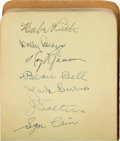 Baseball Collectibles:Others, Circa 1930 Baseball Greats Autograph Book with Gehrig, Hornsby,Wagner, Foxx, Mack, Ruth. ...