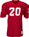 Football Collectibles:Uniforms, 1976-79 Billy Sims Game Worn, Unwashed Oklahoma Sooners Jersey, MEARS A10. ...