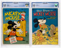 Golden Age (1938-1955):Cartoon Character, Four Color #79 and 231 CBCS-Graded Mickey Mouse Group (Dell,1945-49).... (Total: 2 Comic Books)