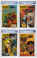Golden Age (1938-1955):Classics Illustrated, Classics Illustrated CBCS-Graded First Editions Group of 5(Gilberton, 1949-69).... (Total: 5 Comic Books)
