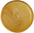 Patterns, (1942) 1C Amber Glass Token, RB 42-70-T-1, R.8, MS64 NGC. ...