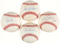 Autographs:Baseballs, Baseball Greats Single Signed Baseballs Lot of 4 - Includes Garvey,Henderson, Sutton, & McCovey. ...