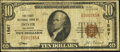 National Bank Notes:Delaware, Dover, DE - $10 1929 Ty. 1 The First NB Ch. # 1567. ...