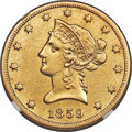 Liberty Eagles, 1859-S $10 -- Improperly Cleaned -- NGC Details. AU....