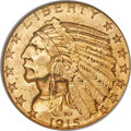 Indian Half Eagles, 1915-S $5 MS61 NGC....