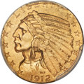 Indian Half Eagles, 1912-S $5 MS62 PCGS....