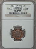 Civil War Merchants, 1863 Broas Brothers Pie Bakers, New York NY, F-630M-13a, MS64 BrownNGC....