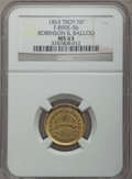 Civil War Merchants, 1863 Robinson & Ballou, Troy NY, F-890E-5b, MS63 NGC....