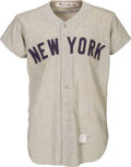 Baseball Collectibles:Uniforms, 1954 Mickey Mantle Game Worn New York Yankees Jersey, MEARS A9. ...