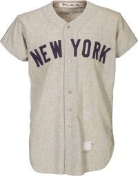 1954 Mickey Mantle Game Worn New York Yankees Jersey, MEARS A9
