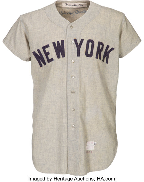 pretty nice 1f065 acdc3 1954 Mickey Mantle Game Worn New York Yankees Jersey, MEARS ...