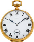 Timepieces:Pocket (post 1900), E. Howard Watch Co. 18k Gold 23 Jewel 14 Size. ...