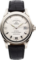 Timepieces:Wristwatch, Omega De Ville 18k White Gold Limited Edition Co-Axial Escapement Automatic. ...