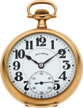 Timepieces:Pocket (post 1900), Illinois 14k Gold 21 Jewel Bunn Special. ...