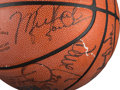 Basketball Collectibles:Balls, 1988-89 Chicago Bulls Team Signed Basketball. ...