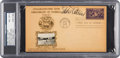 Baseball Collectibles:Others, 1939 Eddie Collins Signed Hall of Fame Grand Opening First DayCover, PSA/DNA NM-MT 8....