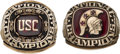 Football Collectibles:Others, 1972 and 1974 USC Trojans National Championship Rings (2)....