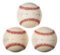Autographs:Baseballs, Alfonso Soriano Single Signed Baseball Trio (3). ...