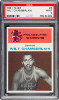 Basketball Cards:Singles (Pre-1970), 1961 Fleer Wilt Chamberlain #8 Rookie PSA Mint 9....