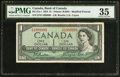 Canadian Currency: , Fancy Serial Number BC-37a-i $1 1954.. ...