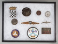 Decorative Arts, Continental:Other , Ten Automobile-Related Badges and Other Memorabilia. Marks:(various). 3-1/2 inches diameter (8.9 cm) (L'Auto plaque). Pro...(Total: 10 Items)