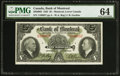 Canadian Currency: , Montreal, PQ- The Bank of Montreal $5 January 2, 1935 Ch. #505-60-02.. ...