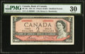 Canadian Currency: , Serial Number 1 BC-38c $2 1954.. ...