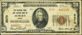 National Bank Notes:Maine, Auburn, ME - $20 1929 Ty. 2 The National Shoe & Leather BankCh. # 2270. ...