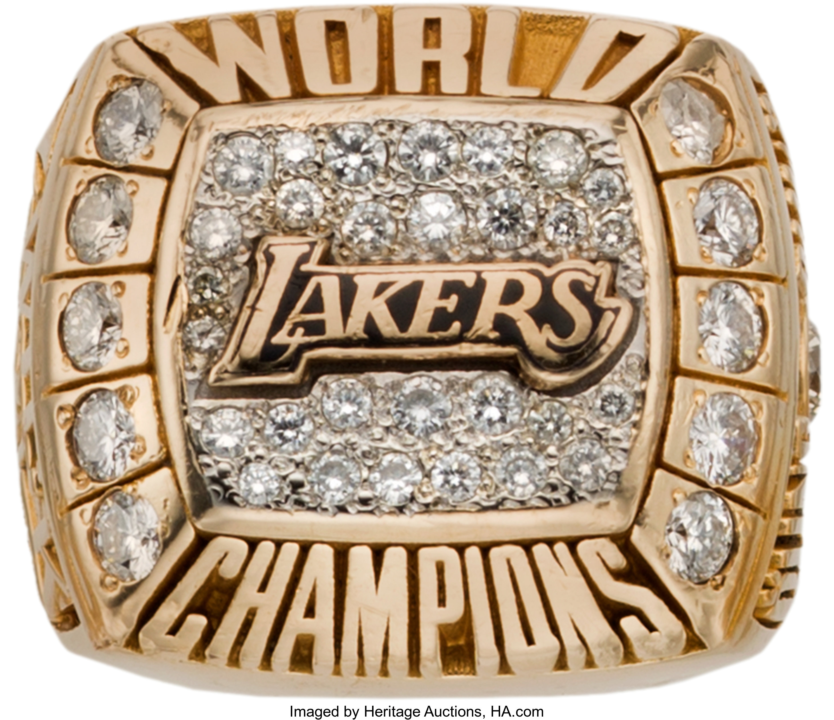 2000 Los Angeles Lakers Nba Championship Ring Basketball Lot 80119 Heritage Auctions