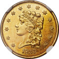 Classic Quarter Eagles, 1834 $2 1/2 MS62+ NGC. CAC. Breen-6138, Variety 1, R.1....