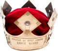 """Baseball Collectibles:Others, 1958 Ernie Banks """"Babe Ruth Sultan of Swat Award"""" Crown.. ..."""