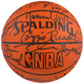 Basketball Collectibles:Balls, Hall of Famers & Stars Multi-Signed Basketball. ...