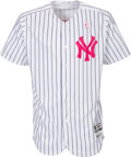 Baseball Collectibles:Uniforms, 2017 Matt Holliday Game Worn Unwashed New York Yankees Jersey &Cap From Mother's Day Game MLB Authentic. ...