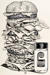 Mitch O'Connell - Lawry's Seasoned Salt Commercial Illustration Original Art (McCormick, 1983)