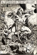 Original Comic Art:Splash Pages, Keith Pollard King Conan #8 Pin-Up Illustration Original Art (Marvel, 1981)....