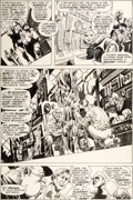 Original Comic Art:Panel Pages, Bernie Wrightson Swamp Thing #6 Page 9 Original Art (DC,1973)....