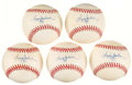 Autographs:Baseballs, Reggie Jackson Single Signed Baseballs Lot of 5. ...