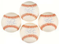 "Autographs:Baseballs, Cal Ripken Jr ""HOF 2007"" Single Signed Baseballs Lot of 4. ..."