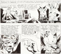 Original Comic Art:Panel Pages, Joe Kubert The Brave and the Bold #44 Story Page 12 Hawkmanand Hawkgirl Original Art (DC, 1962)....