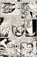 Original Comic Art:Panel Pages, Matt Baker Journey Into Fear #1 Story Page 7 Original Art (Superior Publishers, 1951)....
