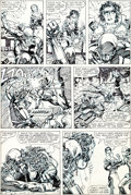 Original Comic Art:Panel Pages, Barry Windsor-Smith Machine Man #4 Story Page 15 OriginalArt (Marvel, 1985)....