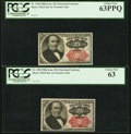 Fractional Currency:Fifth Issue, Fr. 1309 25¢ Fifth Issue Two Examples PCGS Choice New 63PPQ; ChoiceNew 63.. ... (Total: 2 notes)