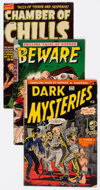 Comic Books - Assorted Golden Age Horror Comics Group of 10 (Various Publishers, 1951-54).... (Total: 10 Comic Books)