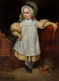 Fine Art - Painting, European:Antique  (Pre 1900), Durieux (19th Century). Little Soldier Girl. Oil on canvas.39-1/2 x 29 inches (100.3 x 73.7 cm). Signed lower left:D...